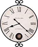 Howard Miller Magdalen Oversized Wall Clock 625-310 – Wrought-Iron with Quartz Movement