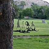 1 pc Steel Branch Gnomes Decoration- Gnomes Easter Decor, Gartendekoration, Garden Metal Art, dekorative Kunstwerke, Hinterhofkunst, Baumkunst, Silhouette Art