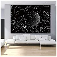 TYOP タペストリー、星座シリーズ星空のスカイタペストリー、宇宙月の背景の壁掛け布、寝室の寮の家族の装飾に使用されます。 (Size : 59*39 inch)