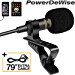Professional Grade Lavalier Lapel Microphone Omnidirectional Mic with Easy Clip On System Perfect for Recording Youtube / Interview / Video Conference / Podcast / Voice Dictation / iPhone/ASMR (Renewed)
