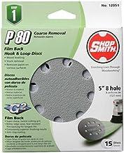 120 Set GLS51 319072 KLINGSPOR Velcro Discs//Sb-Packed PS 22 K Velours-Backed Grinding Disc 150 MM Pack of 5 Each of 40//80
