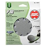 ALI INDUSTRIES 12051 8 Hole 80 25 CT Grit Disc, 5-Inch, 15-Pack