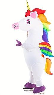 HSCTEK Unisex Child Inflatable Unicorn Costume