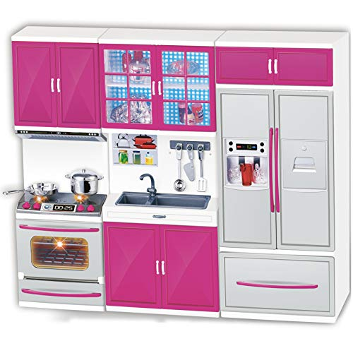Liberty Imports My Modern Kitchen Mini Toy Playset w/ Lights and Sounds, Perfect for 11-12' Dolls