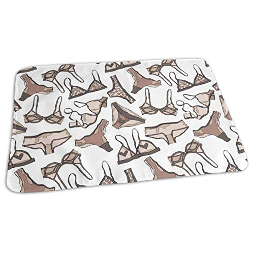 Broek en BH Patroon Baby Herbruikbare Changing Pad Cover Draagbare Travel Changing Mat 27.5x19.7 inch