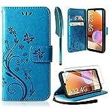 AROYI Cover Compatibile con Samsung Galaxy A32 4G, Retro Design Flip Caso in PU Pelle Premium...