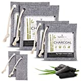 Supremeoak Activated Bamboo Charcoal Air Purifying Bag 6 Pack(2x200g, 2x100g, 2x75g) - Kids & Pet Friendly Odor Absorber Refrigerator Deodorizer Freshener For Home, Basement, Car, Shoes, Closet, shoes