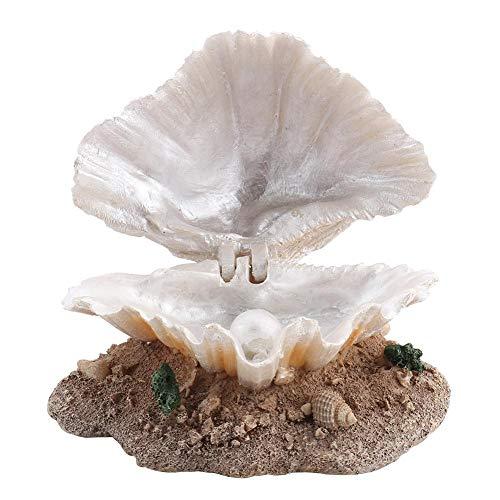 Gancon Acción de aireación del Arrecife de Coral del Acuario, decoración del burbujeador de la Perla de la cáscara del pecera