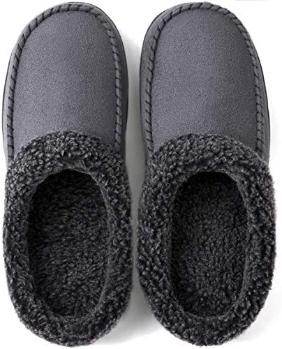 ULTRAIDEAS Men s Cozy Memory Foam Moccasin Suede Slippers with Fuzzy Plush Wool Like Lining product image