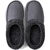 ULTRAIDEAS Men's Cozy Memory Foam Moccasin Suede Slippers with...