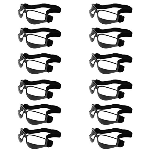 Sharplace 12pcs Set Basketball Dribbeln Trainingsbrille, Anti- nach unten zu schauen Trainingshilfe