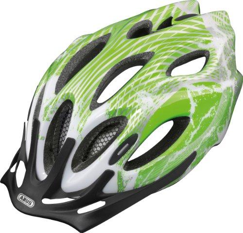 ABUS Kinder Fahrradhelm Chaox, Grün (electric green),Gr. 51-55
