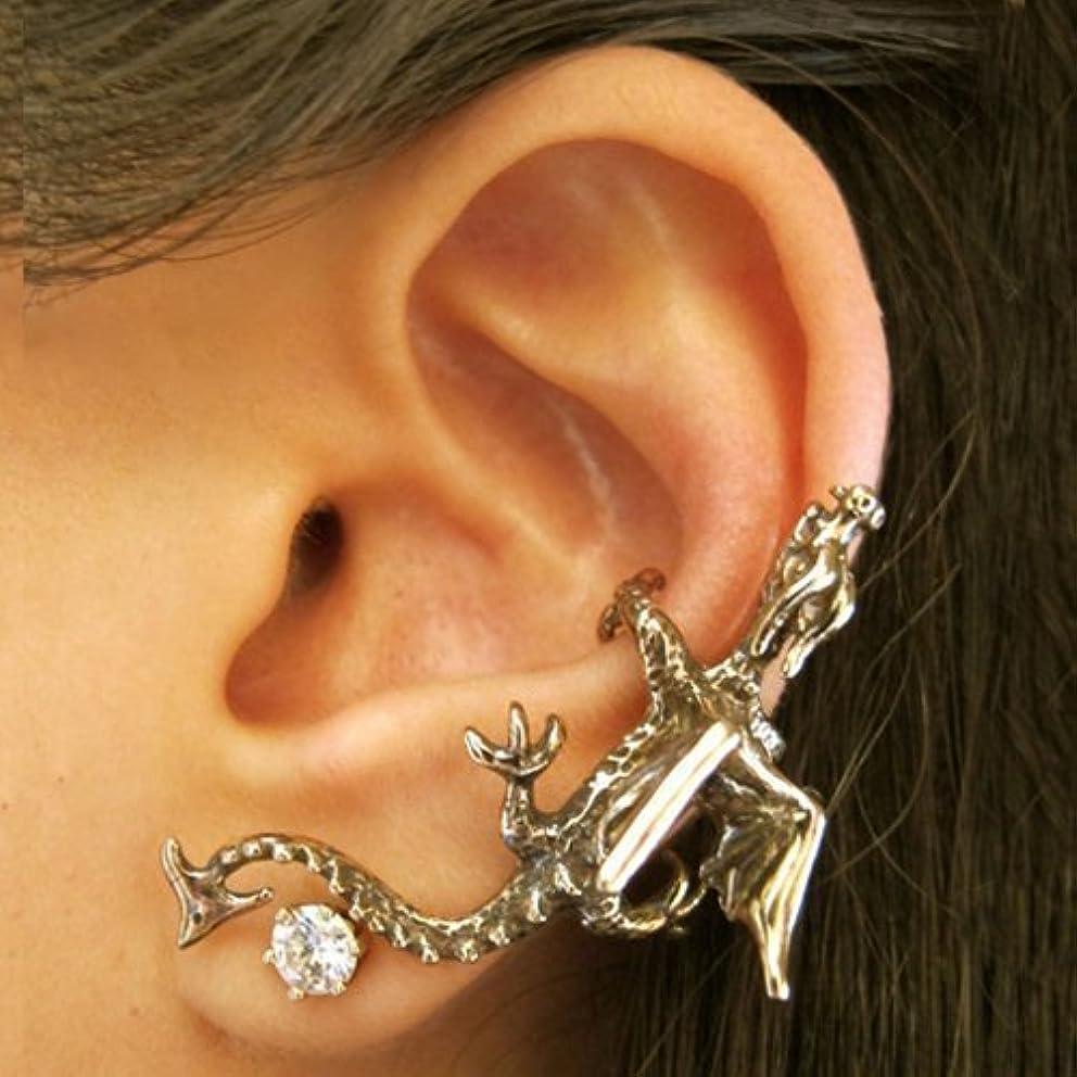 Dragon Ear Cuff Bronze Goth Fantasy Ear Climber Jewelry