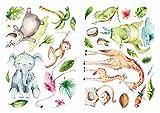 dekodino® Pegatina de pared animales de safari set de decoración