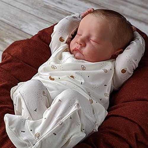 TSDLRH Vinyle Souple Fait à la Main Nouveau-né Silicone poupée Reborn bébé Enfant en Bas âge Fille poupée Vraie Vie Dormir Nouveau-né bébés Reborn