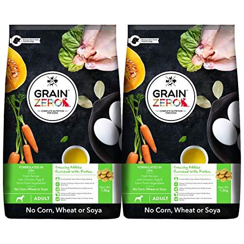 Grain Zero Adult Dry Dog Food, 1.5 kg (Buy 1 Get 1 Free)