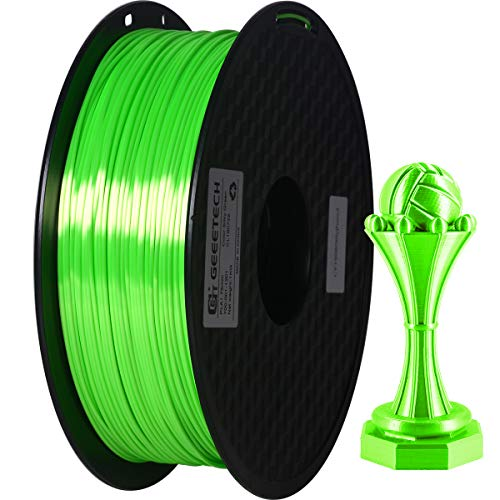 GEEETECH PLA filament 1.75mm Silk Grün, 3d filament PLA for 3d Drucker 1kg spool