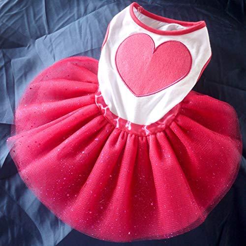 Preisvergleich Produktbild Logicstring Herz Hundekleid Universal Princess Kleid Haustier Kleidung Bequemes Hund Hochzeitskleid Haustier Rock Haustierzubehör