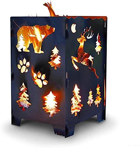 Bear Wood Burning Pit, Fire Pit, Burn Cage,...