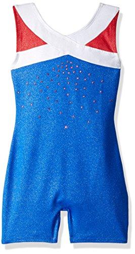 Freestyle by Danskin Mädchen Girls' Gymnastics Biketard Funktionsunterwäsche, True Blue, XS