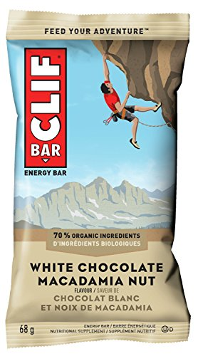 CLIF BAR - Energy Bars - White Chocolate Macadamia Flavour - (68 Gram Protein Bars, 12 Count)