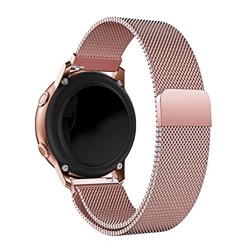 Cinturino per orologio in oro rosa, cinturini di ricambio in maglia di acciaio inossidabile Alldo da 20 mm per donna, cinturino in metallo