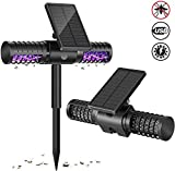 OFAY Solar Power UV Bug Zappers, Insect & Mosquito Killer Light, Waterproof Fly Bug Insect Zapper Killer Lights for Outdoor, Villa Yard Garden, Backyard, Patio