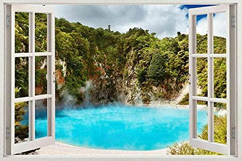 Enorme playa mar removible etiqueta de la pared decoración calcomanías mural ventana vista paisaje - 3D - calcomanía arte mural -PegatinasDe Pared Calcomanía Decoración - 50x70cm