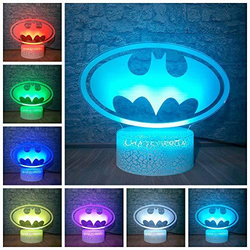 3D LED Lamp Marvel Batman Mask Table Night Light Atmosphere 7 Color Change Bedroom Decoration Christmas Gift Toys Luminaria