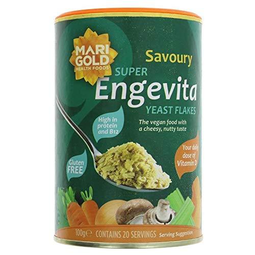 ENGEVITA | Super Yeast Flakes Vit D & B12 | 4 x 100g (FR)