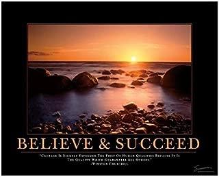 Successories Unframed, Mats-Believe & Succeed Motivational Poster