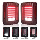 Liteway LED Tail Lights for 07-17 Jeep Wrangler Reverse Light Turn Signal Lamp Running Lights for Jeep Wrangler JK,...