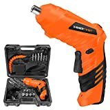 Enertwist Cordless Screwdriver, 5 Nm 46 Pieces Electric Power Screwdriver with Rechargeable Battery, Carrying Case, ET-PSI-4 , Orange