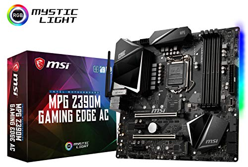 MSI MPG Z390M Gaming Edge AC LGA1151 (Intel 8th and 9th Gen) M.2 USB 3.1 Gen 2 DDR4 HDMI DP Wi-Fi SLI CFX Micro ATX Z390 Gaming Motherboard