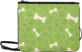Cats Dogs Paw Footprints Bones Pattern Pattern Custom High-grade Nylon Slim Clutch Bag Cross-body Bag Shoulder Bag