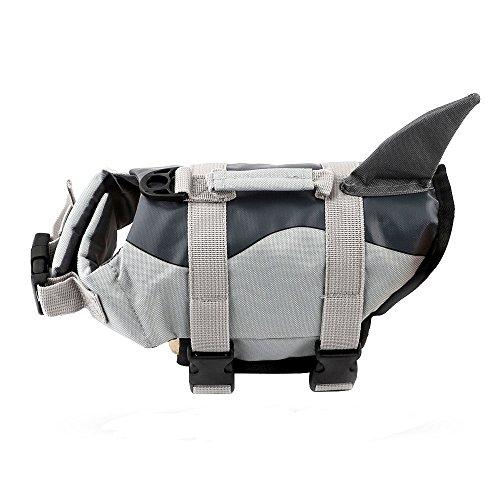 Bokning Hunde Schwimmweste Rettungsweste Meerjungfrau & Hai Style Haustier Hündchen Schwimmweste Lifesaver Float Coat Schwimmweste (Hai XS)