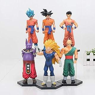 6pcs / Set 15cm Dragon Ball Z Son Goku Yamcha Vegeta Tien Shinhan Champa Super Saiyan Goku PVC Figura de Acción de Colección Modelo de Juguete