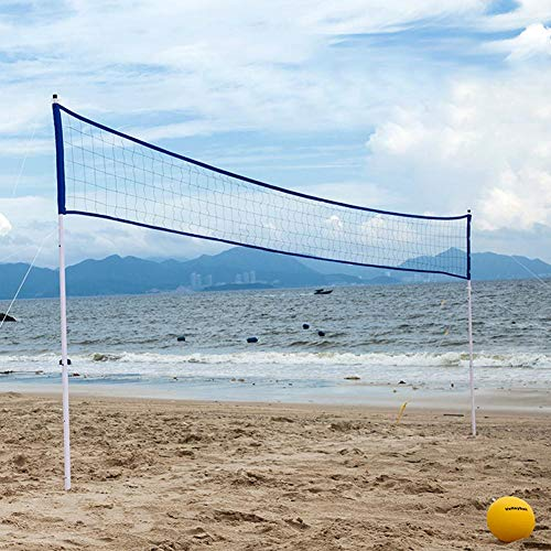 Hedear New Ball Net Outdoor Portable Volleyball Net Folding Adjustable Volleyball Badminton Tennis Durable Woven PE Net Net Set with Stand Pole for Beach Grass Park Outdoor Venues