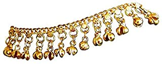 Uma Indian Traditional Belly Dance Ghungroo Brass Anklet, No Color, Size No Size