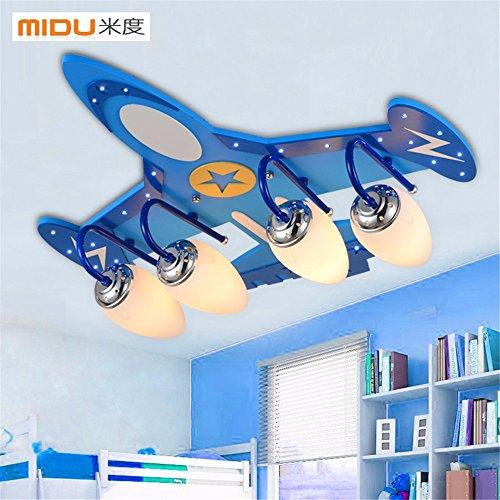 BRIGHTLLT La habitación de los niños varones de luz LED de iluminación dormitorio Ojo Caliente Cartoon creativa a la luz de la sala luz de techo de aviones