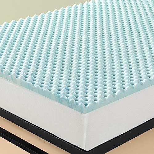 Zinus 7,6 CM Swirl-Gel Topper für Matratzen & Boxspringbett / Memoryfoam Airflow-Topper / CertiPUR-US zertifizierte Schaumstoffe / Topper-in-a-Box / 90 x 200 cm