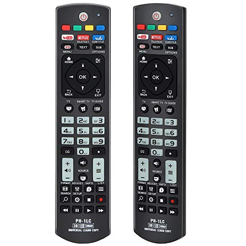 Alkia Universal Luminous Remote Control PH-1LC for Philips TV/LEARN/HDTV/ 3D/ LCD/LED, Works with ALL Philips Televisions (LED,LCD,Plasma)