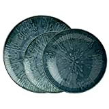ARTHUR KRUPP 67351BA2 Fusion Blue Porcellana - Servizio piatti, 12 pz