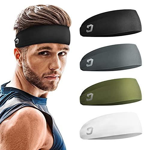 Vinsguir Mens Headband (4 Pack),...
