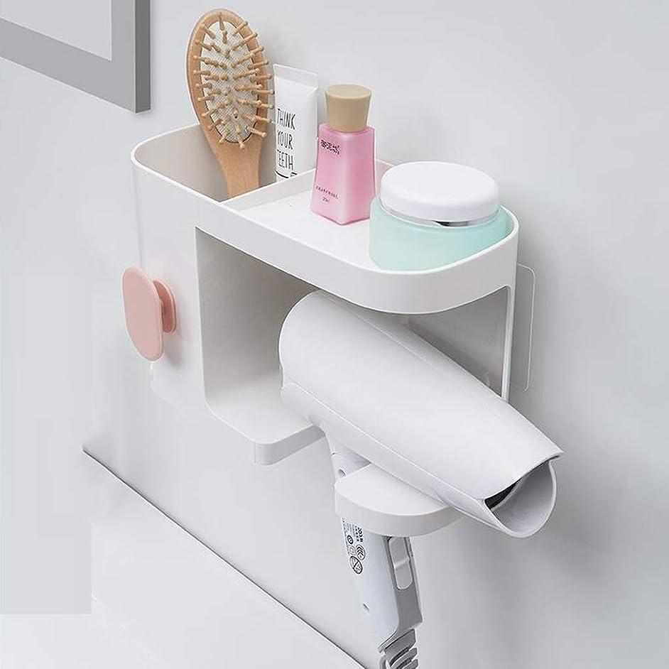 ミリメーター発生唯一LPKH シャワーキャディヘアドライヤーラックフリーパンチ壁掛け多機能浴室収納収納ラックヘアドライヤーチューブ棚 (色 : 白)