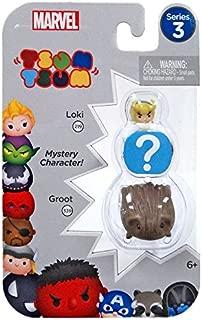 Tsum Tsum Marvel 3-Pack: Spider Woman/Rocket/Captain America Toy Figure