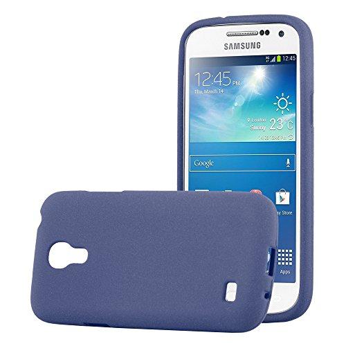 Cadorabo Coque pour Samsung Galaxy S4 Mini en Frost Bleu FONCÉ - Housse Protection Souple en Silicone TPU avec Anti-Choc et Anti-Rayures - Ultra Slim Fin Gel Case Cover Bumper