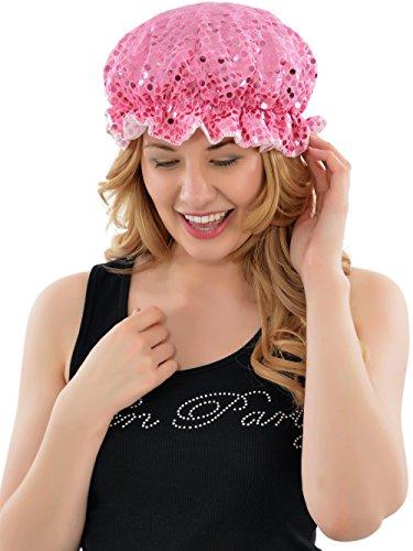 Bonnet de douche Motif rose