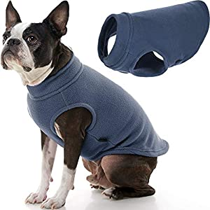Gooby Stretch Fleece Dog Vest – Indigo Blue, Large – Pullover Fleece Dog Sweater – Warm Dog Jacket Dog Clothes Sweater Vest – Dog Sweaters for Small Dogs to Large Dogs for Indoor and Outdoor Use