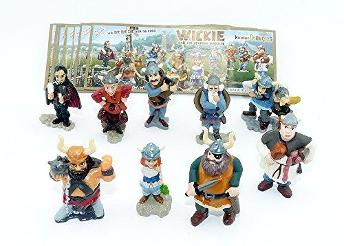Wickie und die starken Männer als Original Figuren Set zum Film aus dem Ü-Ei (Alle 9 Figuren und Beipackzettel)